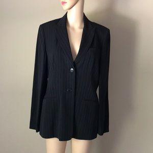 Ann Taylor wool blend pinstripes blazer Sz 10